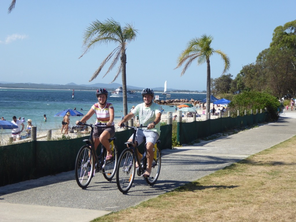 Riding to Fingal Bay
